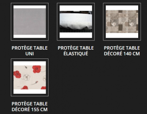 protection table pas cher